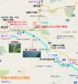 阿蘇大橋周辺の地図(あきひこ)