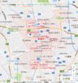 草加市内の鉄道駅地図(あきひこ)