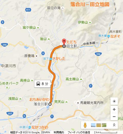 落合川-田立の地図