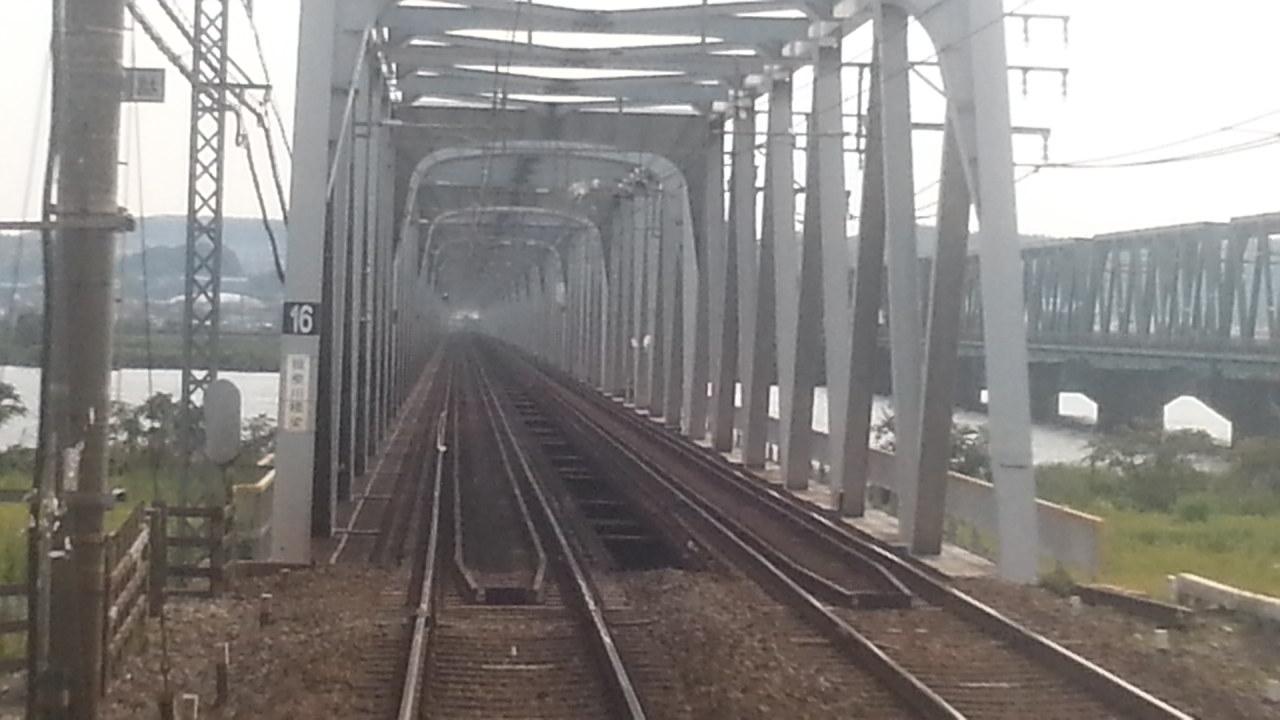20160803_154701 四日市いき急行 - 揖斐川鉄橋