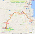 2016年津市無料臨時バス運行経路図