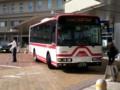 20160825_080529 更生病院 - 名鉄バス(このあとおりかえし定刻発車)
