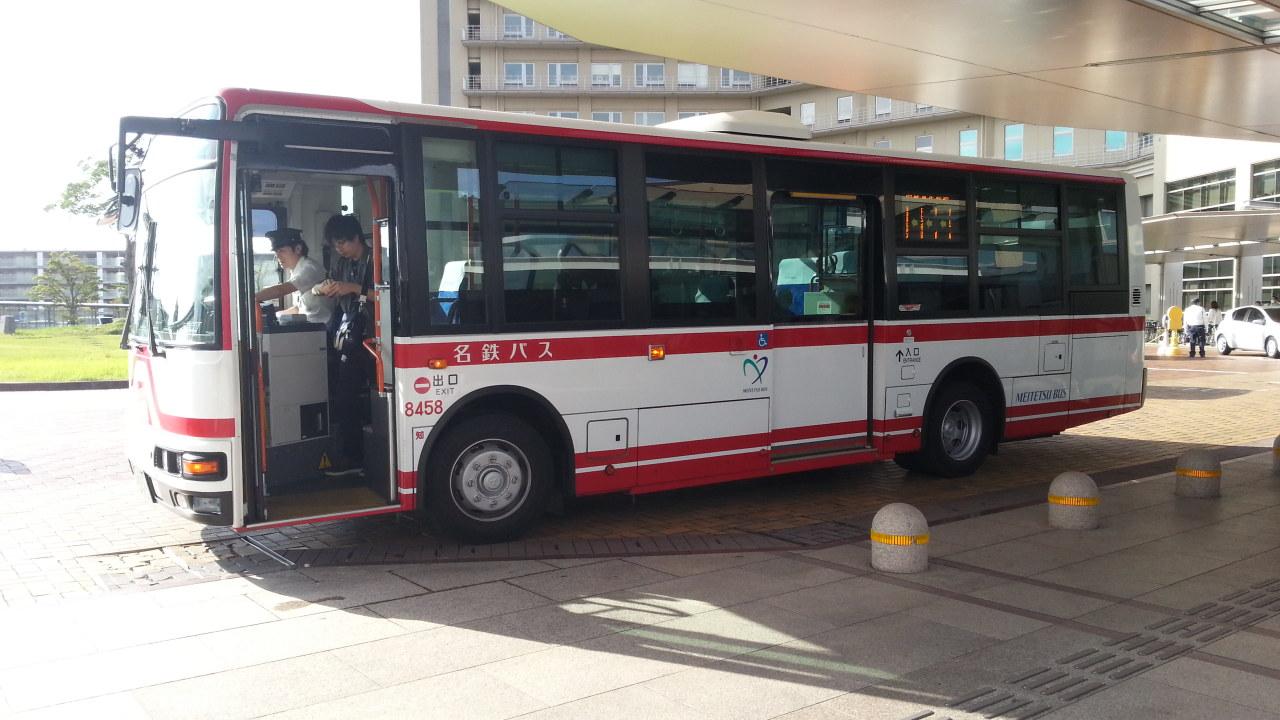 20160907_074808 更生病院 - 名鉄バス(7時49分しゅっぱつ)
