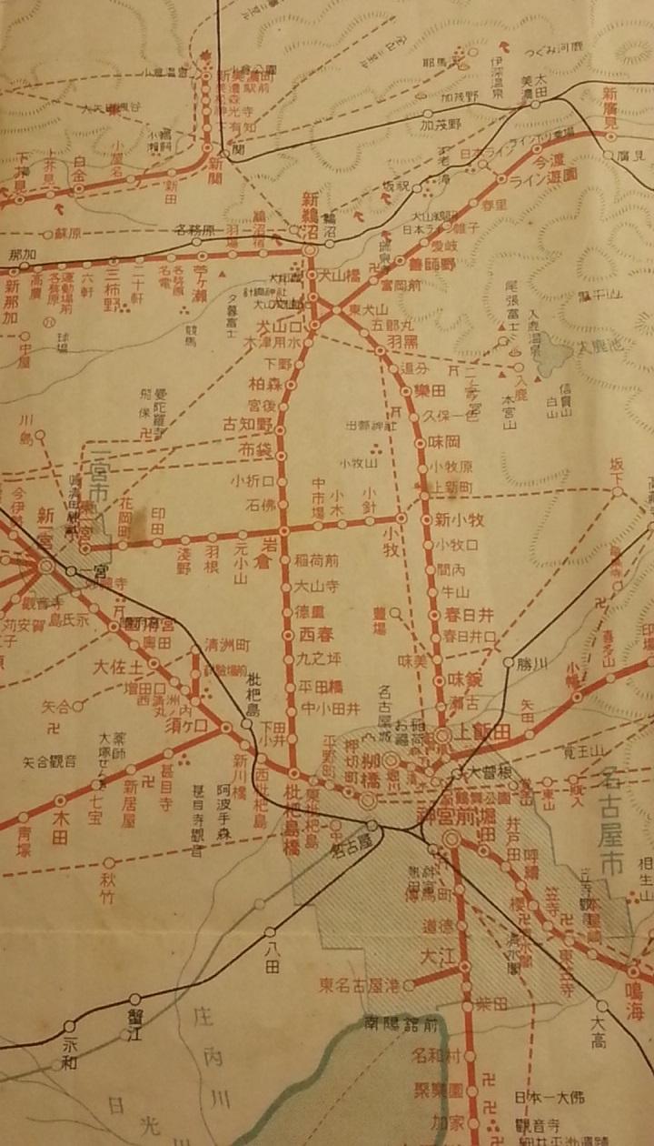 20160915 名鉄資料館 (10) 路線図 - 新名古屋駅開業まえの沿線案内図 720-1260