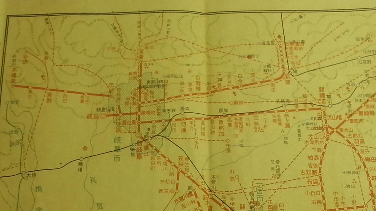 20160915 名鉄資料館 (11) 路線図 - 新名古屋駅開業まえの沿線案内図 1280-720