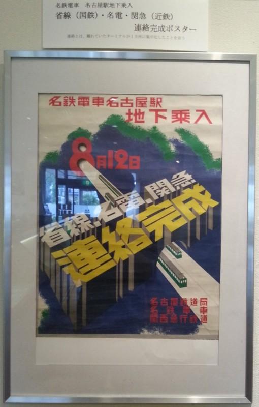 20160915 名鉄資料館 (53) もの - 名鉄電車名古屋駅地下のりいれポスター 65