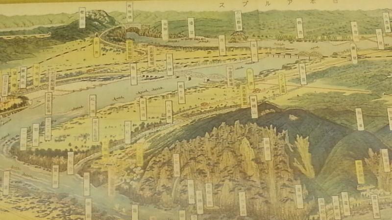 20160915 名鉄資料館 (123) 地図 - 大観せるにほんライン - 今渡方面