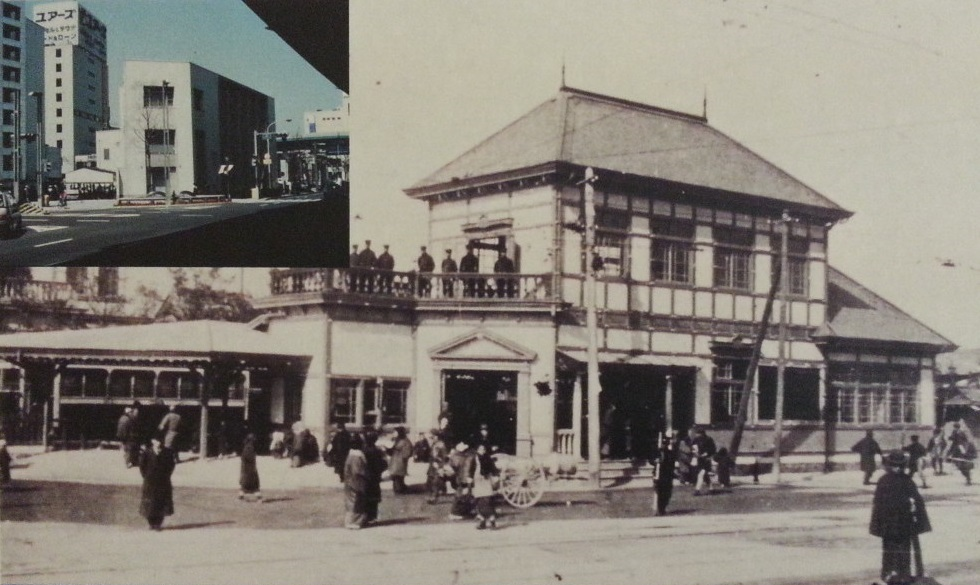 png20160915 名鉄資料館 (98) 開業時の柳橋(1913年)980-585