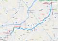 名鉄東部交通バス - 西尾岡崎駅西口線 - 全体図