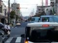 20161007_161850 名鉄バス - 伝馬交差点を右折