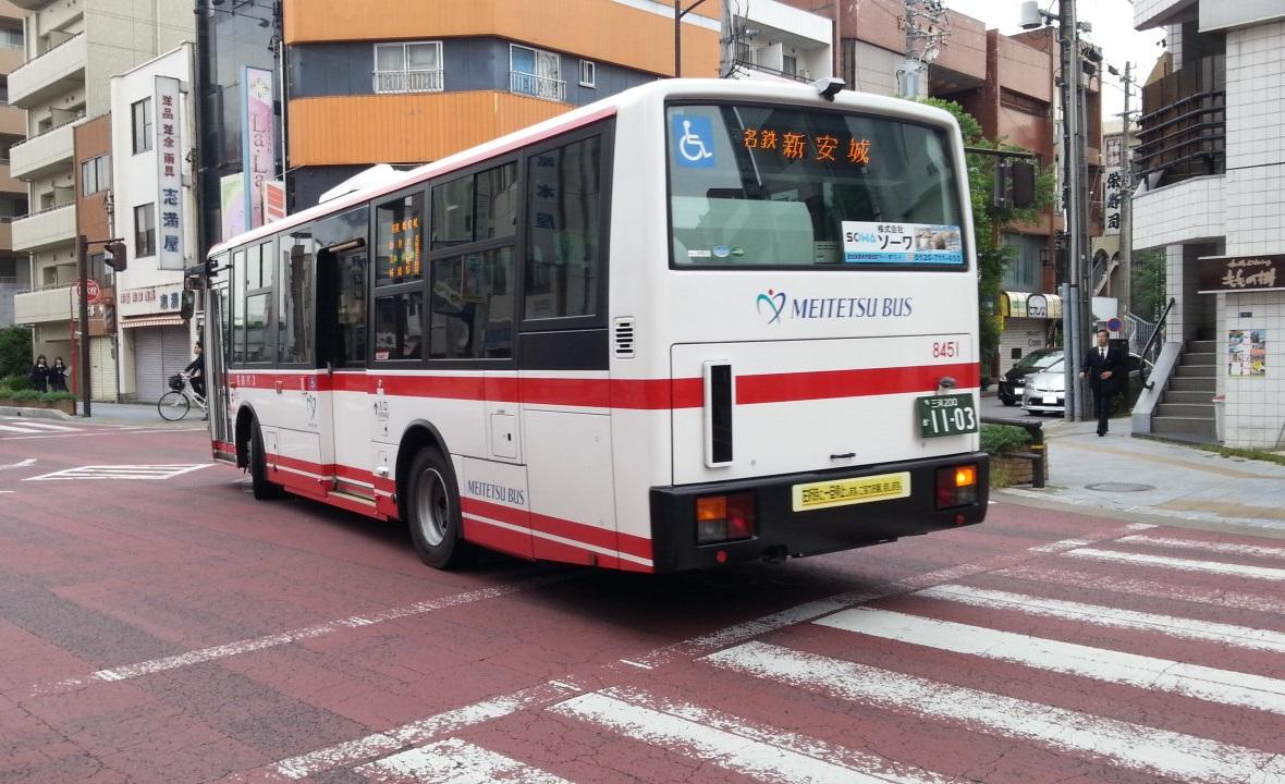 20161014_080414 御幸本町交差点 - 名鉄バス 1180-720