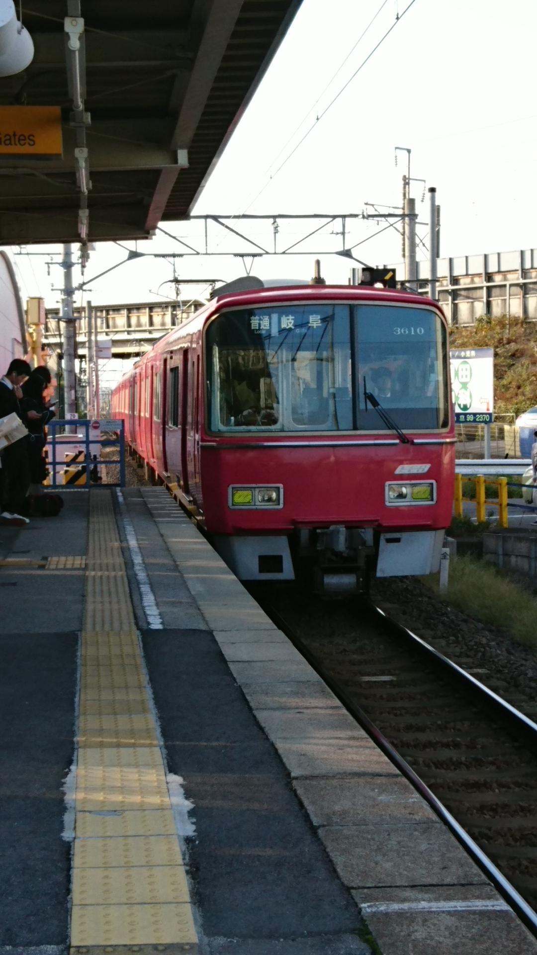 2016.10.19 あさ (1) 古井 - 岐阜いきふつう(3610)