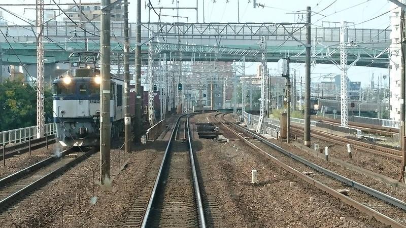 2016.10.19 西春まで (5) 岩倉いきふつう - えきかん(貨物列車)800-450