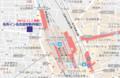 名鉄イン名古屋駅新幹線口の位置図