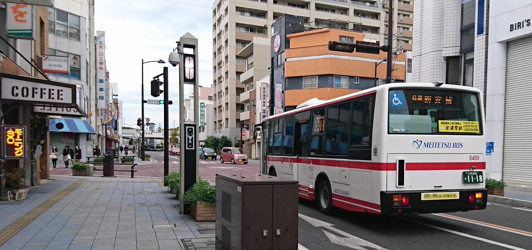 2016.11.2 あさ (2) 御幸本町交差点 - 名鉄バス 1700-800