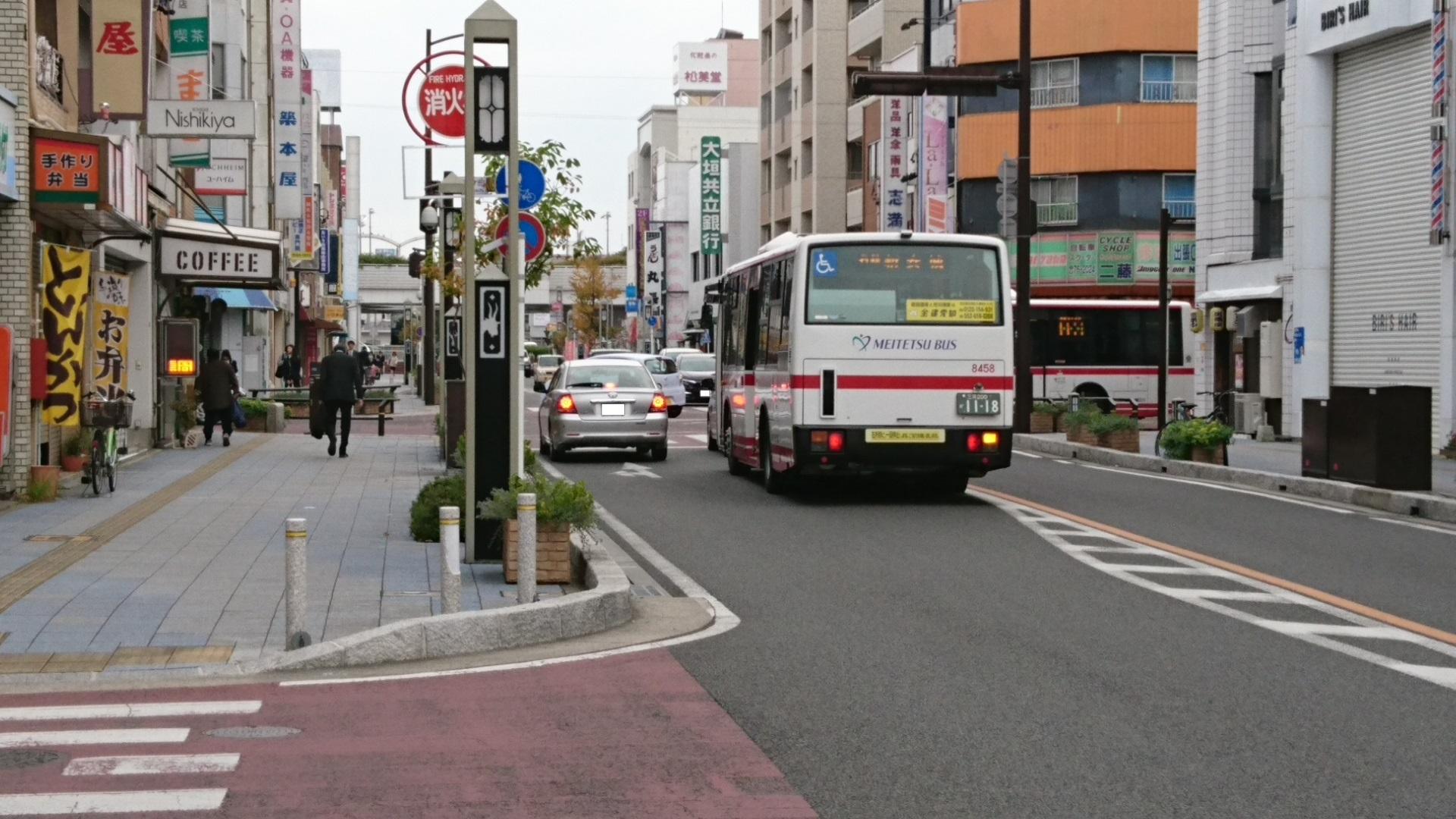 2016.11.8 (1) 御幸本町交差点 - 名鉄バス 1920-1080