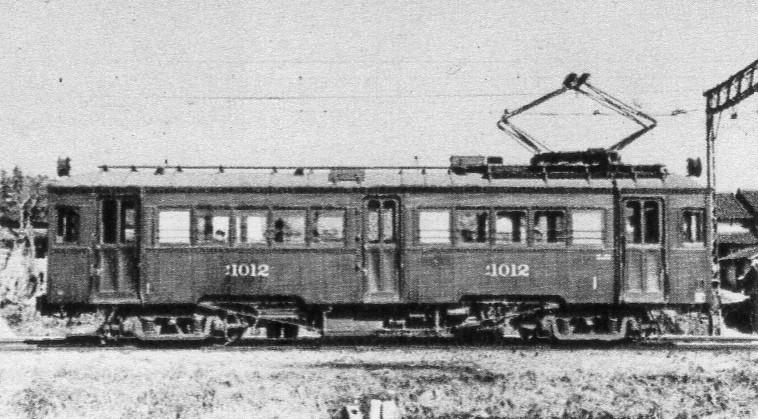 愛知電鉄デハ1010がた電車(=旧碧海電鉄デ100がた)(ヰキペディア)