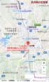 白沢駅の位置図