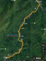 ナリテ山位置図