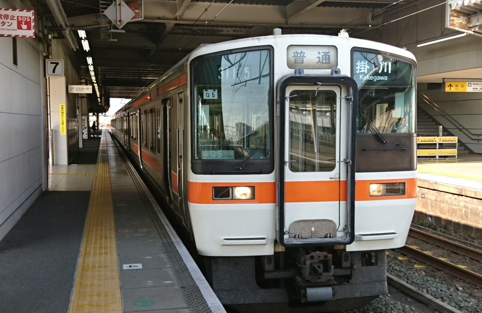 2016.12.9 二川 (3) 豊橋 - 掛川いきふつう 1660-1080