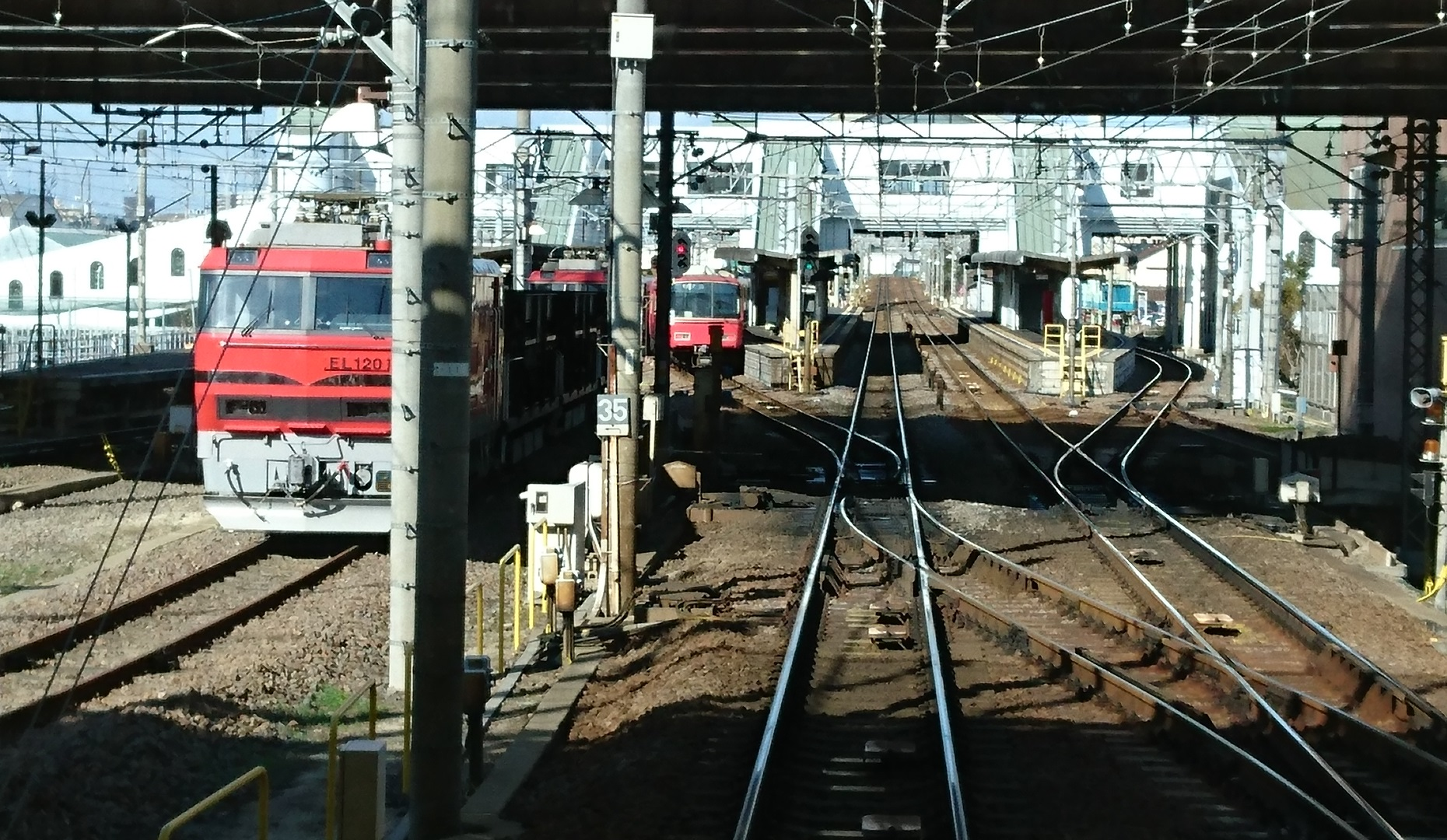2016.12.10 名古屋本線 (12) 岐阜いき急行 - 豊明(電気機関車)1860-1080