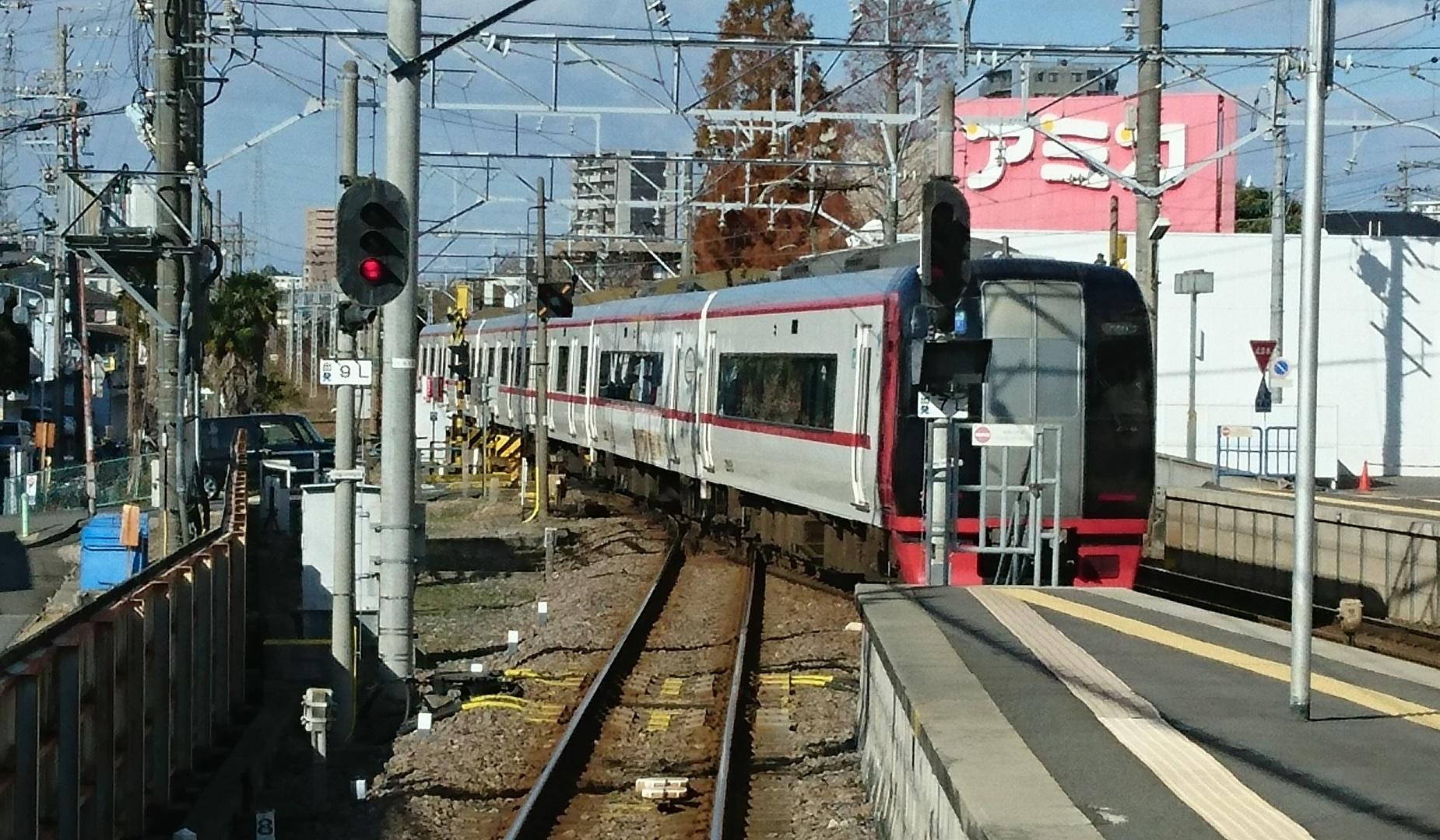 2016.12.10 名古屋本線 (15) 岐阜いき急行 - 前后(新鵜沼いき快速特急)1850-1080
