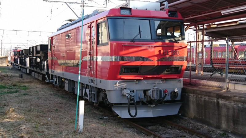 2016.12.18 名鉄 (24) 矢作橋 - 電気機関車EL120 1920-1080