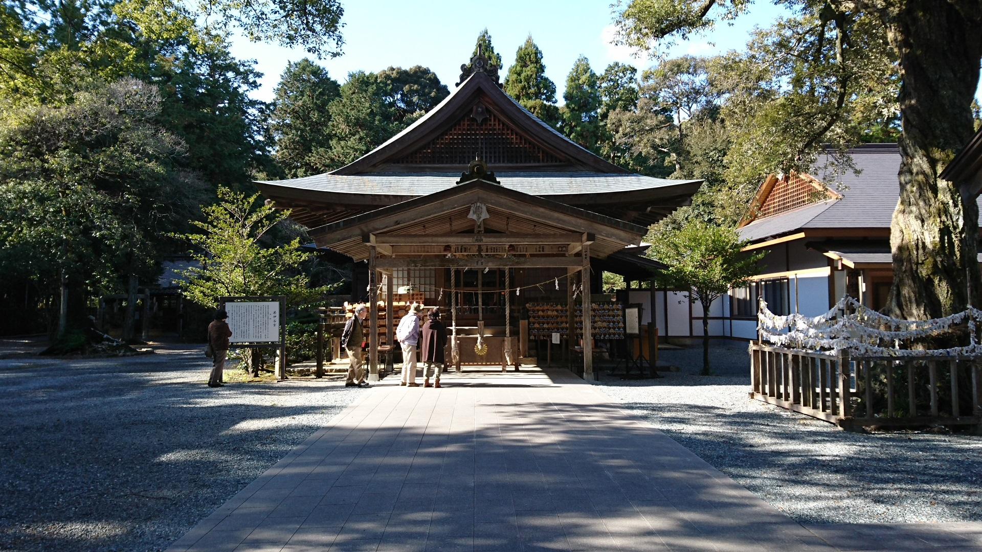 2016.12.23 井伊谷宮 - 拝殿 1920-1080