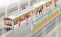 可動式ホーム柵の想像図 - 大阪阿部野橋