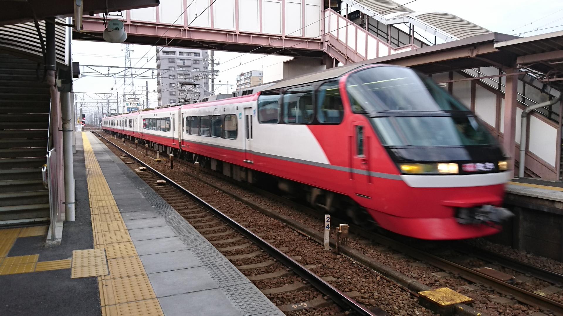 2016.12.26 名鉄 (16) 矢作橋 - 豊橋いき快速特急(通過)1920-1080