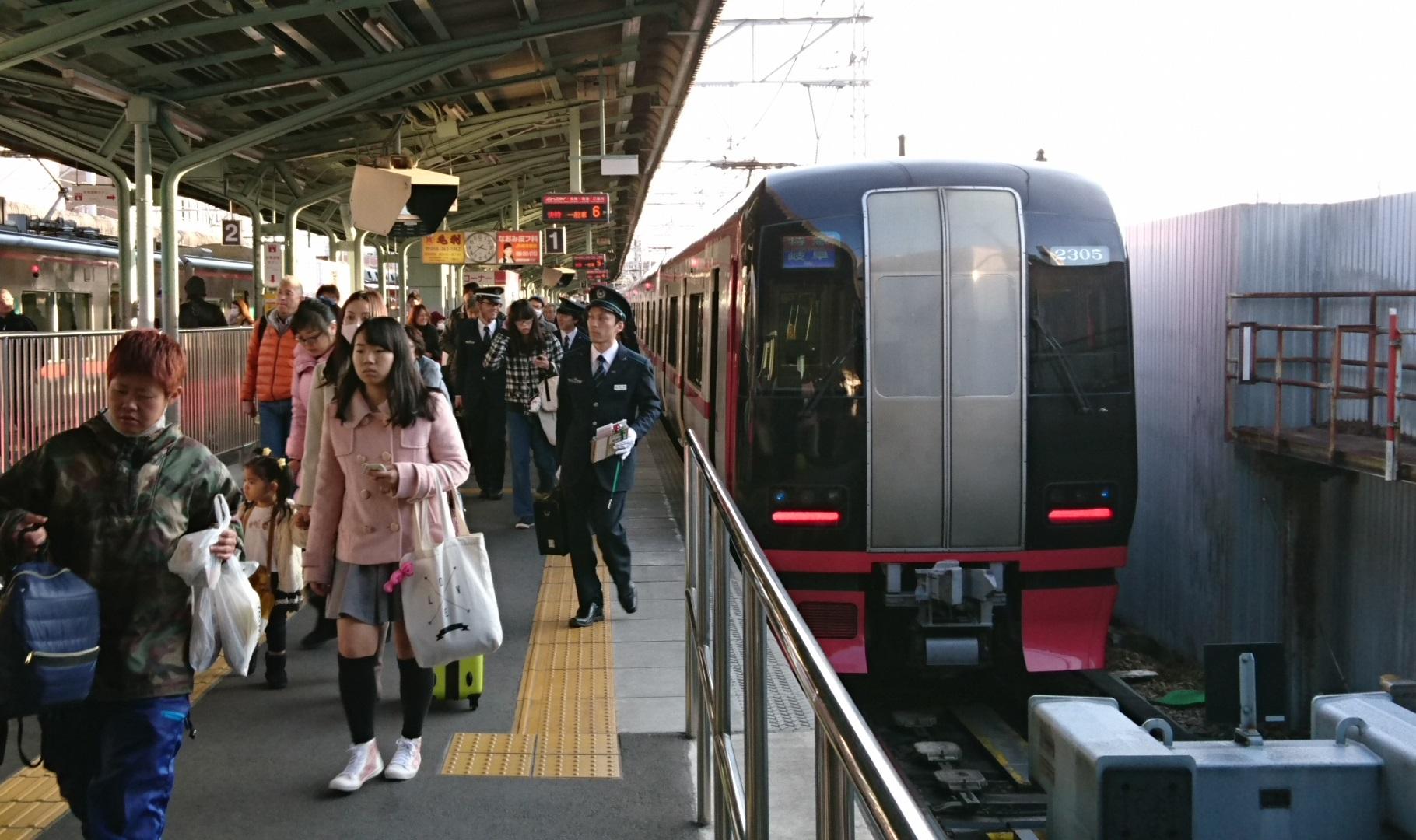 2017.1.3 岐阜から古井まで (3) 岐阜 - 豊橋いき快速特急 1820-1080