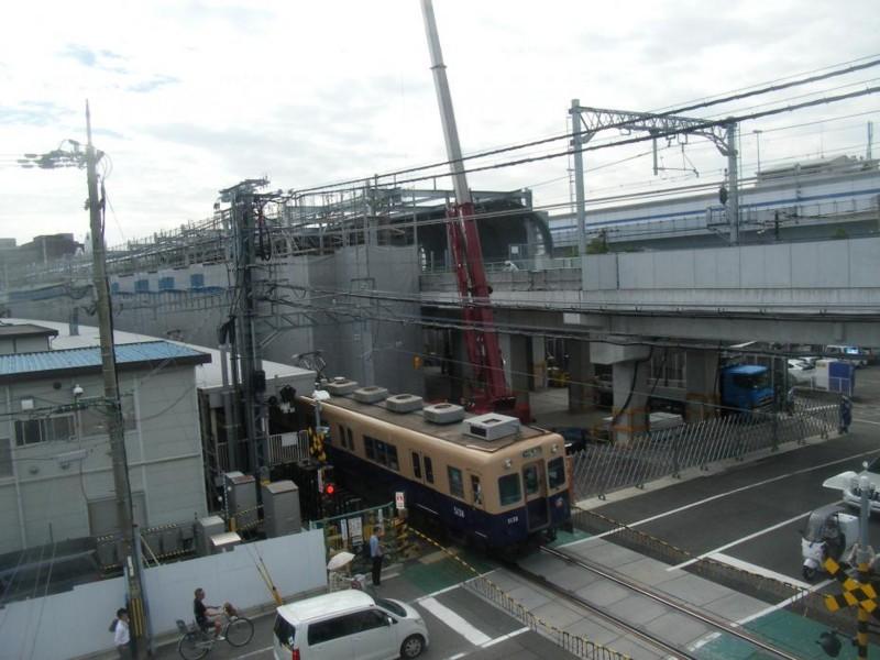 第2工区 (1) 鳴尾駅西踏切と阪神鳴尾駅