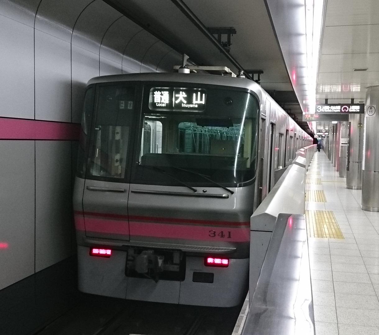 2017.1.13 名古屋から春日井まで (11) 平安通 - 犬山いきふつう 1220-1080