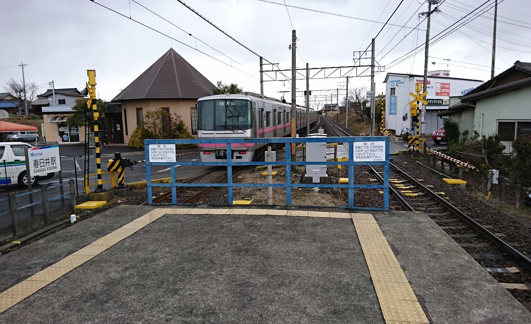 2017.1.13 名古屋から春日井まで (37) 春日井 - 犬山いきふつう 1770-1080