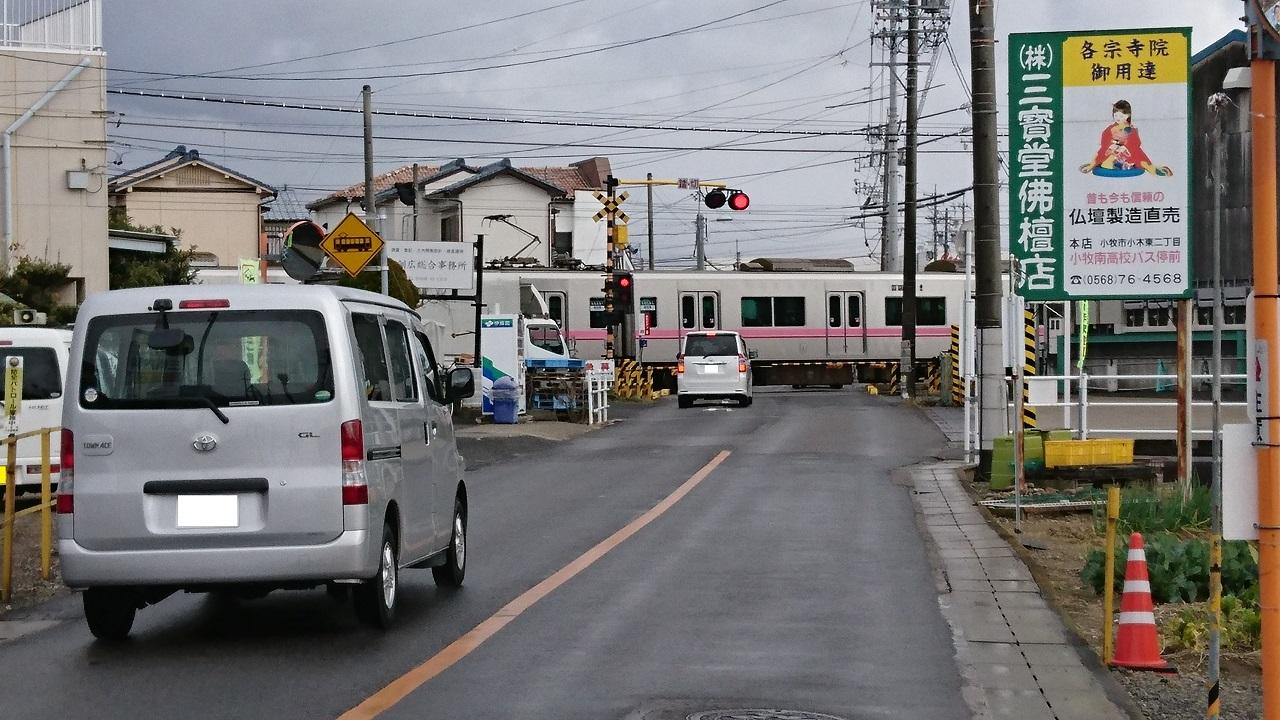 2017.1.13 春日井から牛山まで (8) 県道201号線ふみきり 1280-720