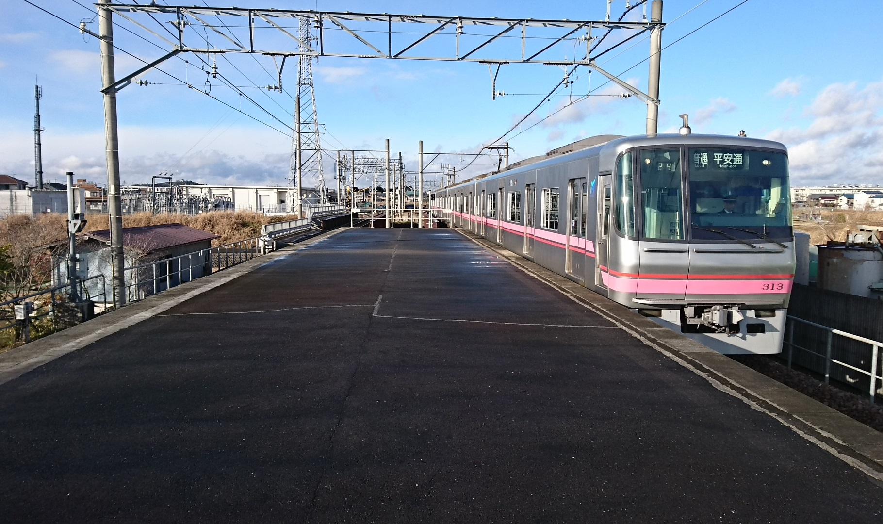2017.1.13 春日井から牛山まで (14) 牛山 - 平安通いきふつう 1820-1080