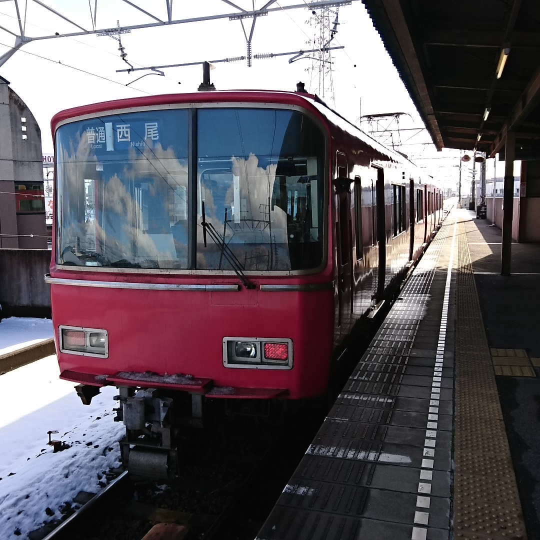 2017.1.15 西尾線 (18) 西尾口 - 西尾いきふつう 1080-1080