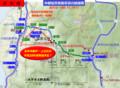 中部縦貫自動車道の路線図(福井北~白鳥)