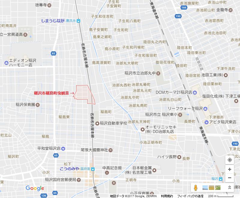 稲沢市稲島町(いなじまちょう)虫観音(むしかんのん)