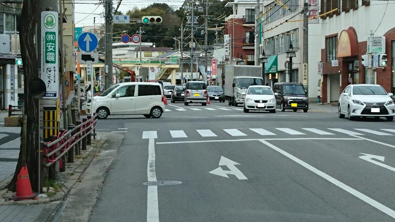 2017.2.8 名鉄バス (5) 北野北口いきバス - 中伝馬バス停 1280-720