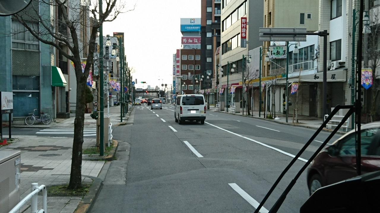 2017.2.8 名鉄バス (8) 北野北口いきバス - 康生町バス停 1280-720