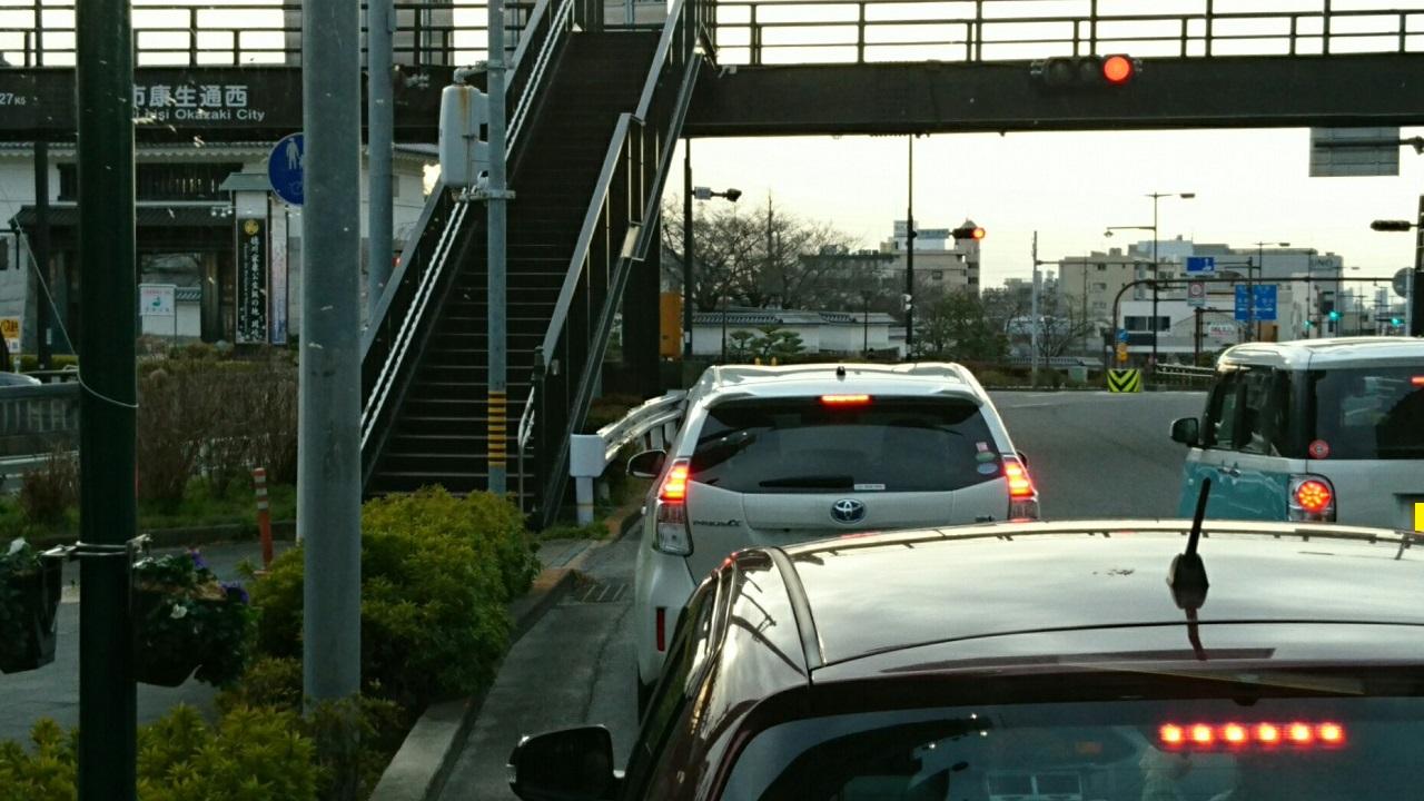 2017.2.8 名鉄バス (9) 北野北口いきバス - 岡崎公園前バス停 1280-720