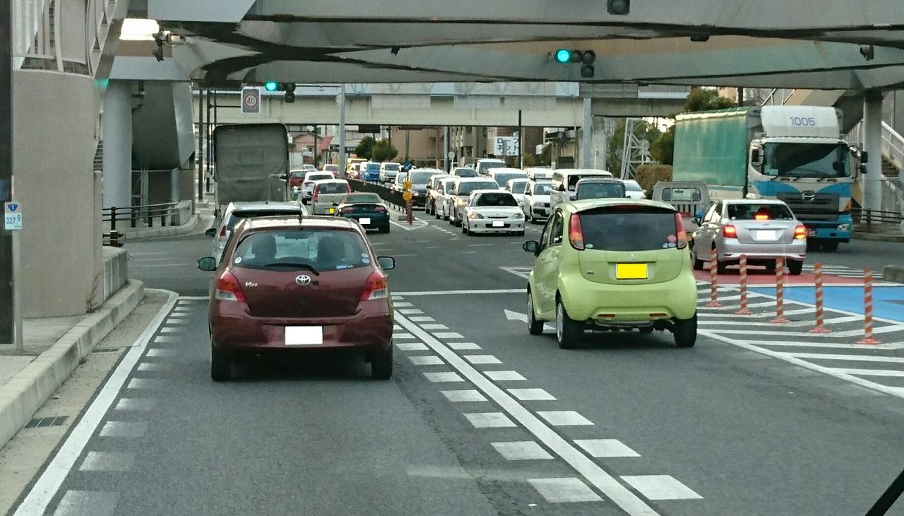2017.2.8 名鉄バス (12) 北野北口いきバス - 八帖交差点 1280-730