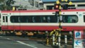 2017.2.10 名古屋本線 (1) しんあんじょう1号ふみきり - さがり電車 1280-720