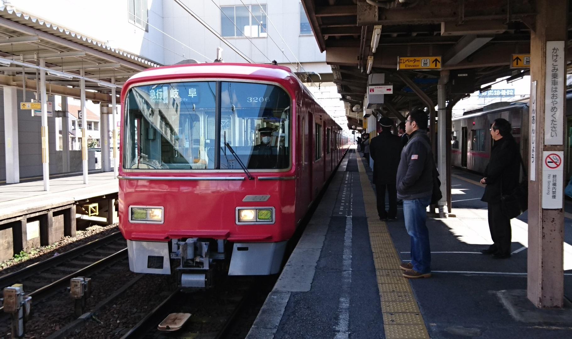 2017.2.10 名古屋本線 (8) しんあんじょう - 岐阜いき急行 1820-1080
