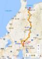名鉄名古屋-富山間の路線図(あきひこ)