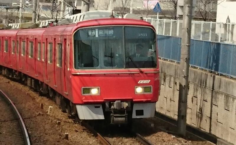 2017.3.12 名古屋 (10) 岐阜いき特急 - 有松てまえ(東岡崎いきふつう) 1300