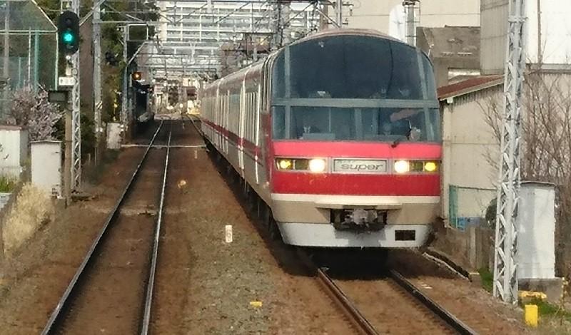2017.3.12 名古屋 (12) 岐阜いき特急 - 桜てまえ(パノラマスーパー) 800-470