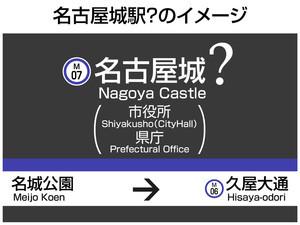 名古屋城の駅名板(ちゅうにち)