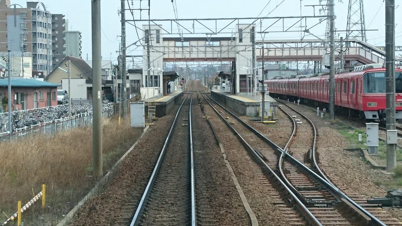 2017.3.18 古井から美合まで (13) 東岡崎いきふつう - 矢作橋 1280-720
